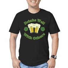 Drinks Well With Others Mens Fitted Dark T-Shirt