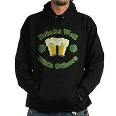 Drinks Well With Others Dark Hoodie