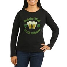 Drinks Well With Others Womens Long Sleeve Dark T