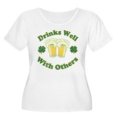 Drinks Well With Others Womens Plus Size Scoop Ne