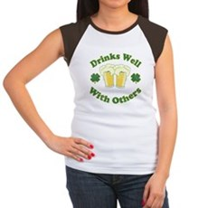 Drinks Well With Others Womens Cap Sleeve T-Shirt