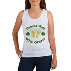 Drinks Well With Others Womens Tank Top