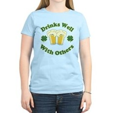 Drinks Well With Others Womens Light T-Shirt