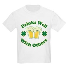 Drinks Well With Others Kids Light T-Shirt