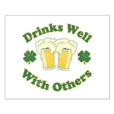 Drinks Well With Others Small Poster