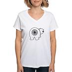 Dharma Bear Women's V-Neck T-Shirt