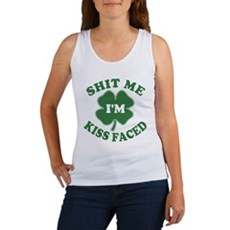 Shit Me I'm Kiss Faced Womens Tank Top