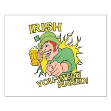 Irish You Were Naked Small Poster