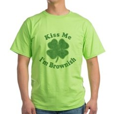 Kiss Me I'm Brownish Green T-Shirt