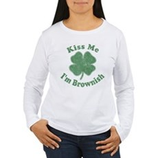 Kiss Me I'm Brownish Womens Long Sleeve T-Shirt