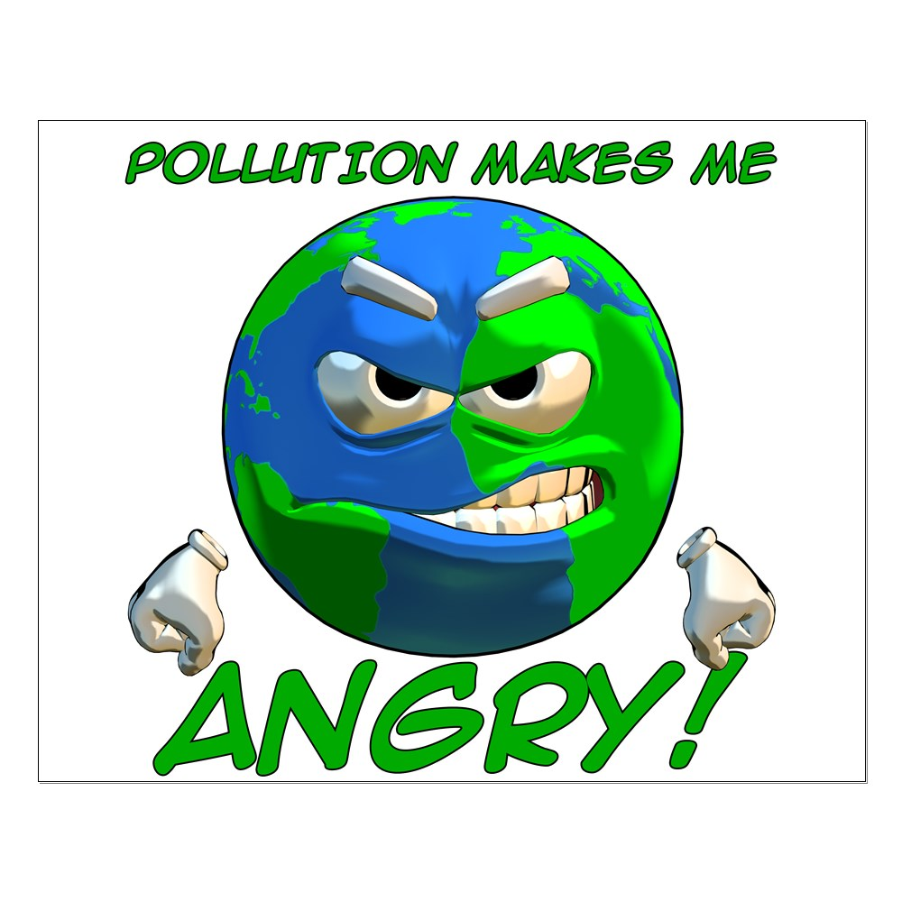 Poster design on save earth - Angry Earth Small Poster