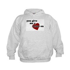 You give me a heart on Kids Hoodie