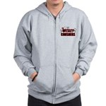 Wesley Crushers Zip Hoodie - Be a part of the best bowling team for geeks - The Wesley Crushers! This merchandise will make a bang with your friends. A big one. In theory. - Availble Sizes:Small,Medium,Large,X-Large,2X-Large (+$3.00) - Availble Colors: Heather Grey