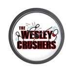 Wesley Crushers Wall Clock - Be a part of the best bowling team for geeks - The Wesley Crushers! This merchandise will make a bang with your friends. A big one. In theory.