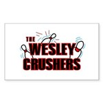 Wesley Crushers Sticker (Rectangle) - Be a part of the best bowling team for geeks - The Wesley Crushers! This merchandise will make a bang with your friends. A big one. In theory. - Availble Colors: White,Clear