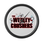 Wesley Crushers Large Wall Clock - Be a part of the best bowling team for geeks - The Wesley Crushers! This merchandise will make a bang with your friends. A big one. In theory. - Availble Colors: Black