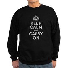 Keep Calm and Carry On Dark Sweatshirt