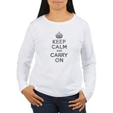 Keep Calm and Carry On Womens Long Sleeve T-Shirt