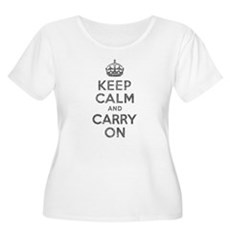 Keep Calm and Carry On Womens Plus Size Scoop Nec