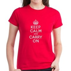 Keep Calm and Carry On Womens T-Shirt