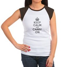 Keep Calm and Carry On Womens Cap Sleeve T-Shirt