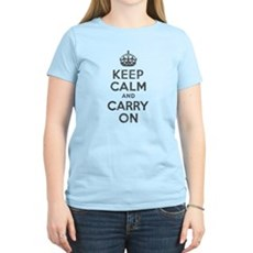 Keep Calm and Carry On Womens Light T-Shirt