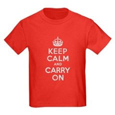 Keep Calm and Carry On Kids T-Shirt