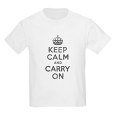 Keep Calm and Carry On Kids Light T-Shirt