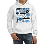 Lost Quotes and Symbols Hooded Sweatshirt