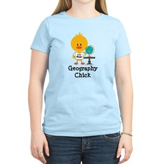 Geography Chick Women's Light T-Shirt