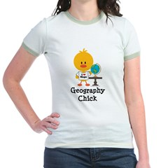 Geography Chick Jr. Ringer T-Shirt