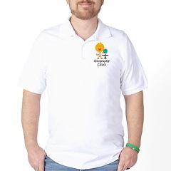 Geography Chick Golf Shirt