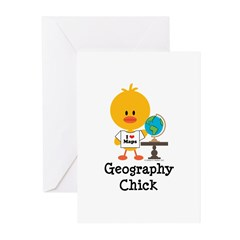 Geography Chick Greeting Cards (Pk of 20)