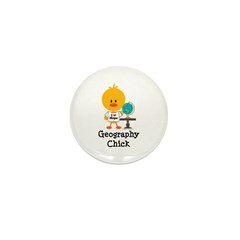 Geography Chick Mini Button (10 pack)