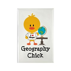 Geography Chick Rectangle Magnet (100 pack)