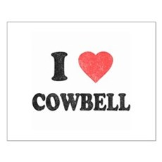 I Love [Heart] Cowbell Small Poster