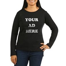 Your Ad Here Womens Long Sleeve T-Shirt