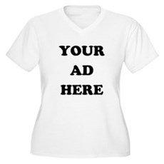 Your Ad Here Plus Size V-Neck Shirt