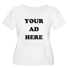 Your Ad Here Plus Size Scoop Neck Shirt
