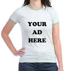 Your Ad Here Jr Ringer T-Shirt