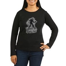 Zombies Are People Too Womens Long Sleeve Dark T-