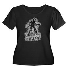 Zombies Are People Too Womens Plus Size Scoop Nec