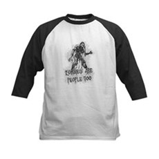 Zombies Are People Too Kids Baseball Jersey