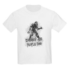 Zombies Are People Too Kids Light T-Shirt