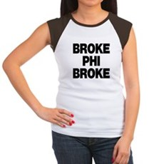 Broke Phi Broke Womens Cap Sleeve T-Shirt