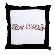 Roy Rules Throw Pillow