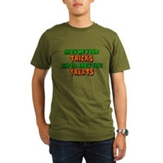 Show Me Your Tricks Organic Mens Dark T-Shirt