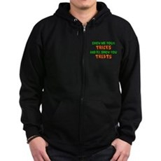 Show Me Your Tricks Zip Dark Hoodie