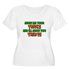 Show Me Your Tricks Womens Plus Size Scoop Neck T