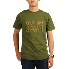Caution Zombies Ahead Organic Mens Dark T-Shirt